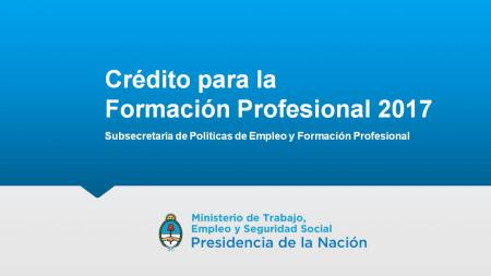 Cr�dito Fiscal para la Formaci�n Profesional