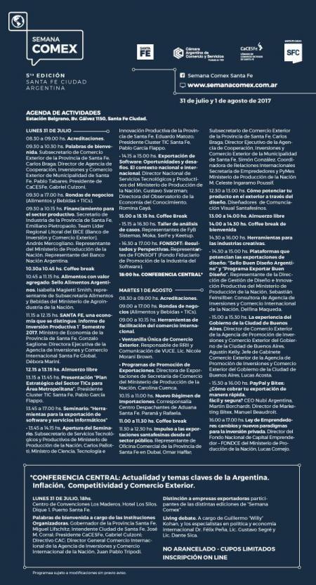 AGENDA DE ACTIVIDADES DEFINITIVA. Inscribite!!!