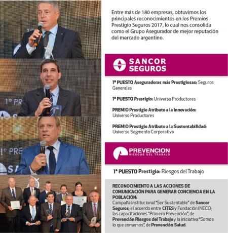 Numerosas distinciones para el Grupo Sancor Seguros en los Premios Prestigio 2017