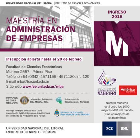 Reunión Informativa de la Maestría en Administración de Empresas (MBA)