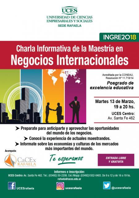 Maestr�a en Negocios Internacionales