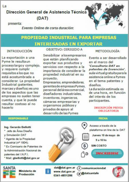 Propiedad Industrial para Empresas interesadas en Exportar