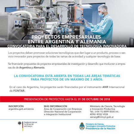 Proyectos empresariales entre Argentina y Alemania