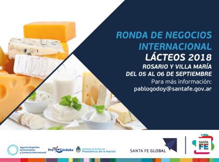 """Ronda de negocios internacional del sector lácteo """"Lácteos 2018"""""""
