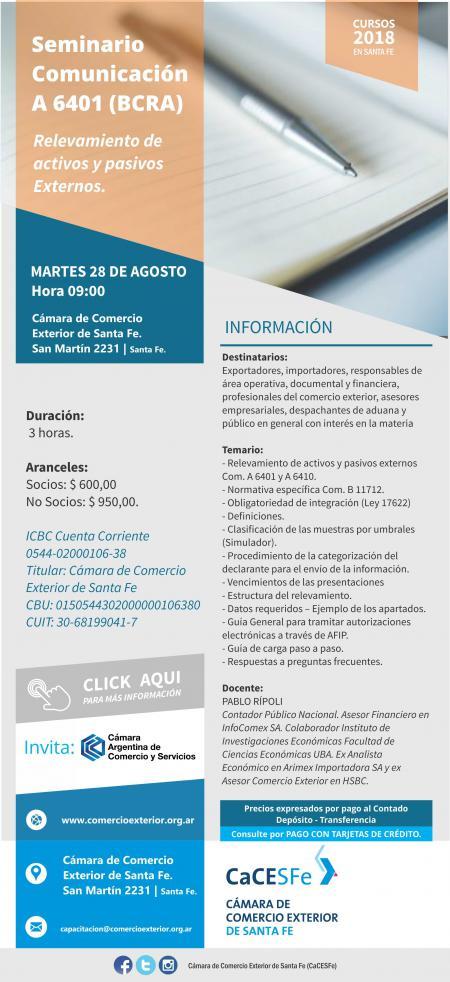 Seminario Comunicación A 6401 (BCRA)