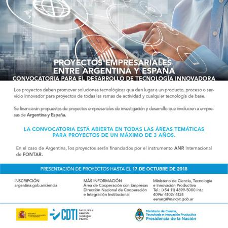 Proyectos empresariales entre Argentina y Espa�a