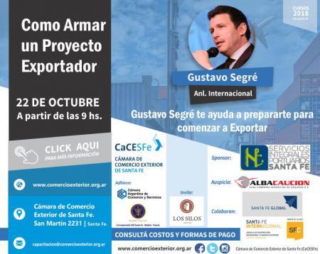 Gustavo Segr� te ayuda a prepararte para comenzar a Exportar