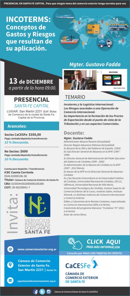 #�LTIMOS LUGARES # INCOTERMS: Conceptos de Gastos y Riesgos que resultan de su aplicaci�n.