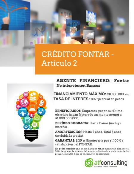 Alternativas de Financiamiento: Crédito Fontar Artículo 2