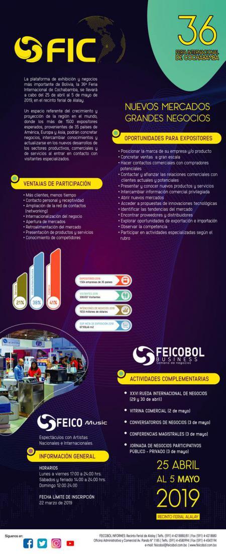 36� Feria Internacional de Cochabamba - FEICOBOL