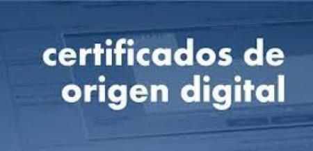 Certificado Origen Digital: Obligatorio desde el 1 de Marzo de 2019