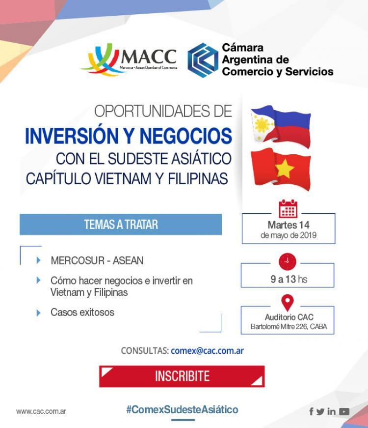 Oportunidad de Inversi�n y Negocios con Vietnam y Filipinas