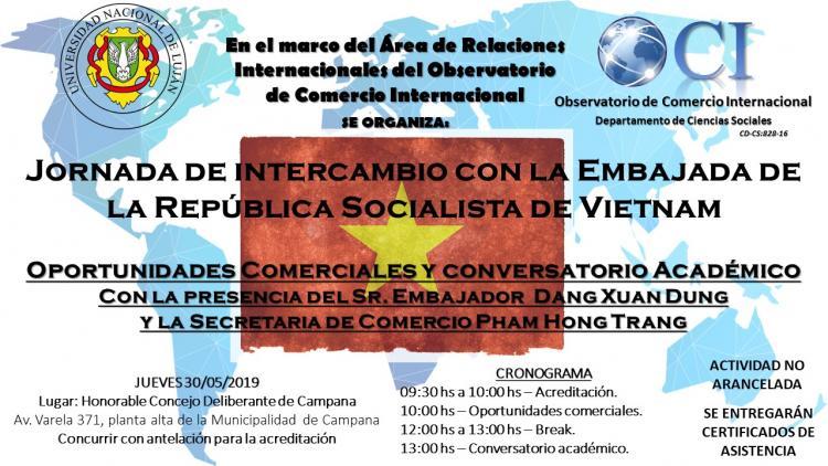 Jornada de Intercambio con la Embajada de la Rep�blica Socialista de Vietnam