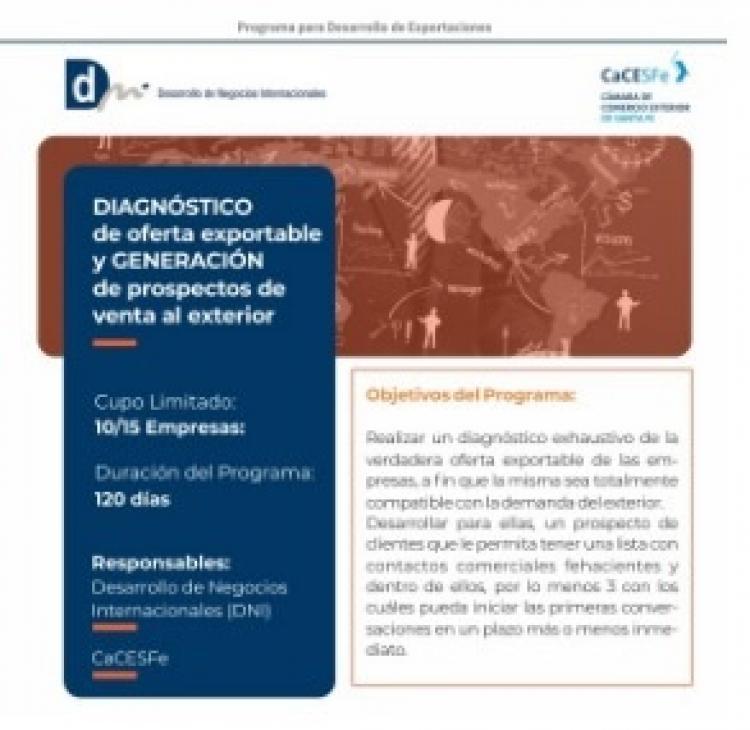 Programa Diagnóstico de Oferta Exportable y Generación de Prospectos de Venta al Exterior