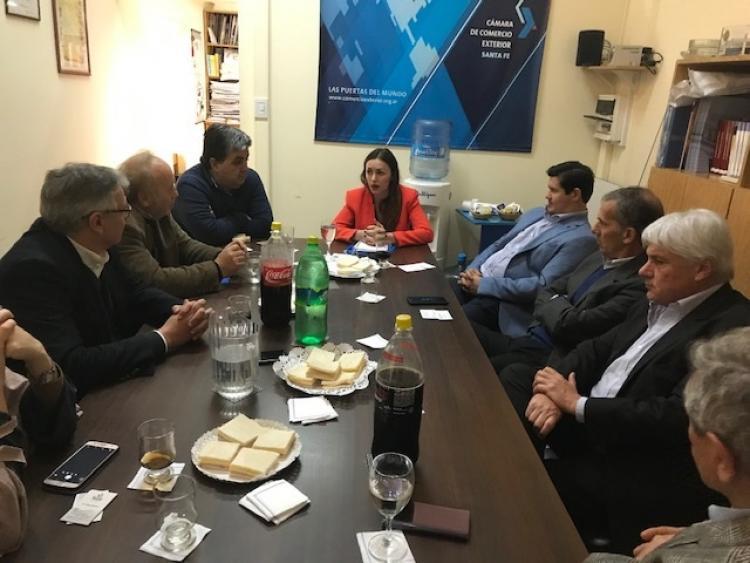 Reuni�n con la Secretaria de Integraci�n Productiva, Lic. Mar�a Caire