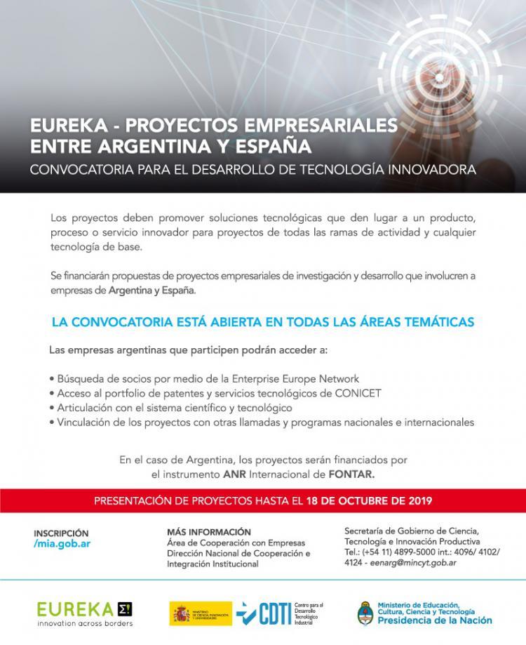 Eureka: Proyectos Empresariales entre Argentina y España