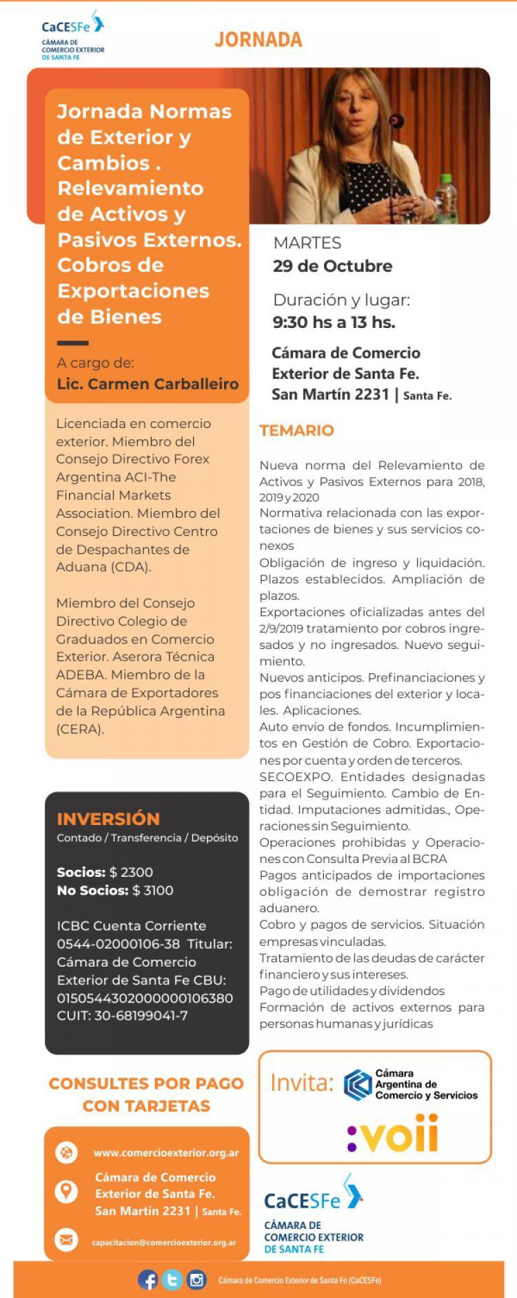 Jornada Normas de Exterior y Cambios # Relevamiento de Activos y Pasivos Externos # Cobros de Exportaciones de Bienes