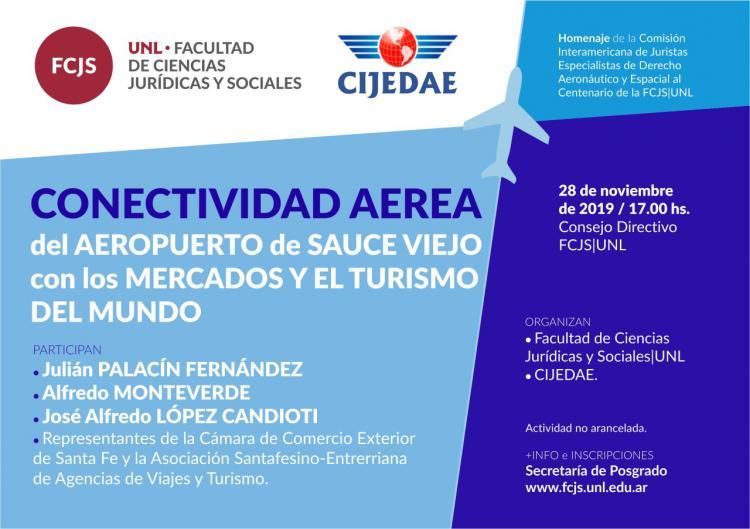 Conectividad Aerea del Aeropuerto de Sauce Viejo con los mercados y el turismo del mundo.