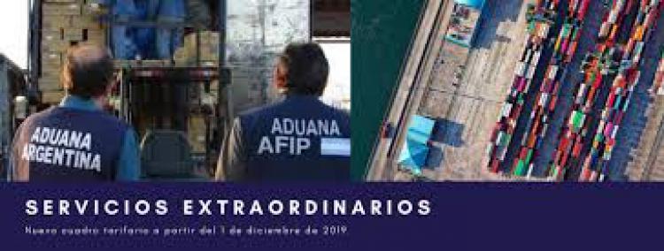 En que casos corresponde el Cobro de Servicios Extraordinarios en Aduana?