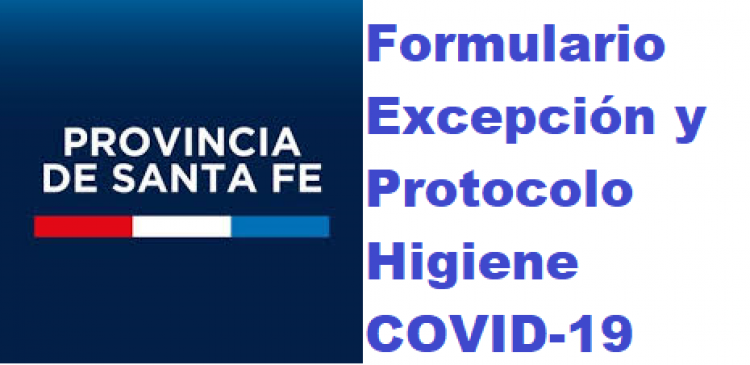 Nuevo Formulario UNICO a COMPLETAR para SOLICITAR EXCEPCIONES
