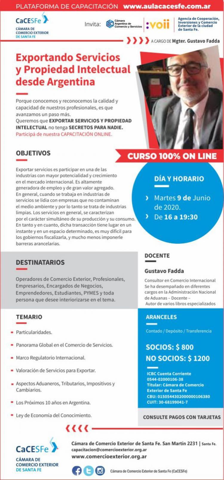 Exportando Servicios y Propiedad Intelectual desde Argentina. # �LTIMOS LUGARES