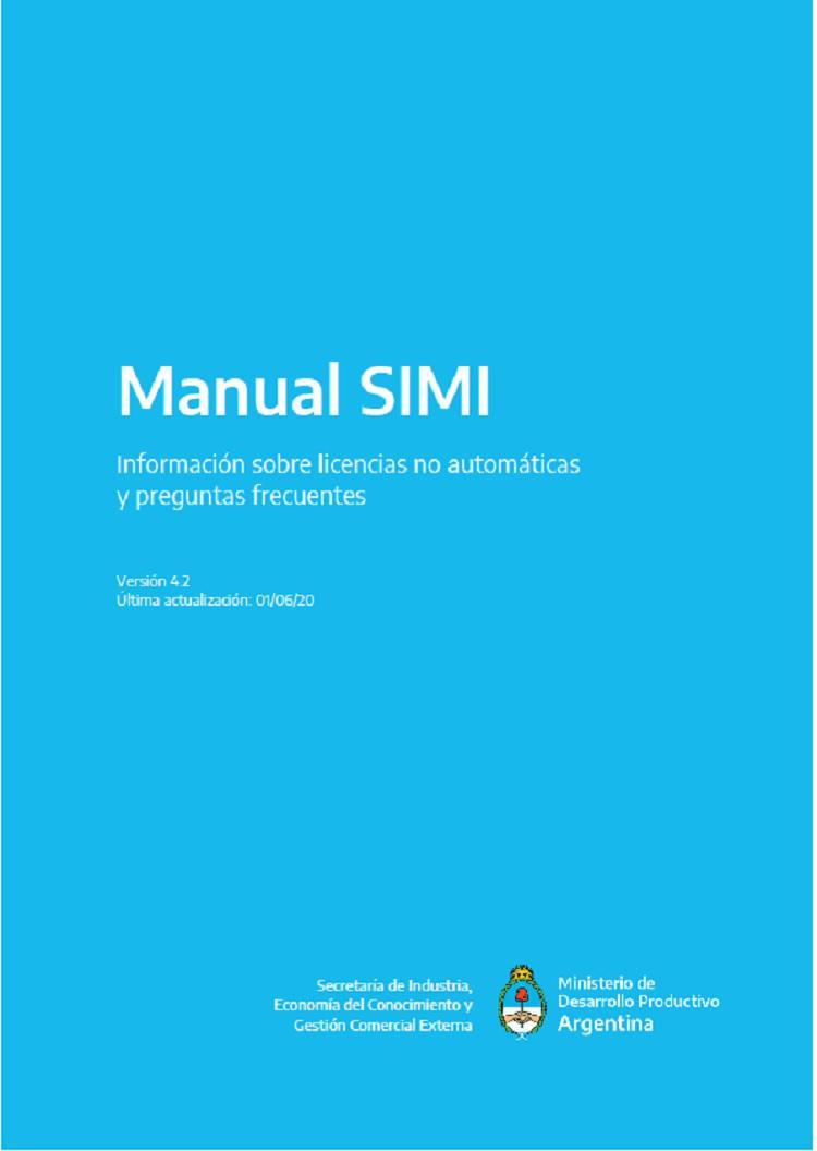 Manual SIMI: Informaci�n sobre licencias no autom�ticas y preguntas frecuentes