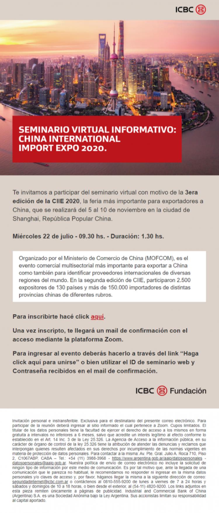 Seminario Virtual 3era edici�n de la CIE 2020