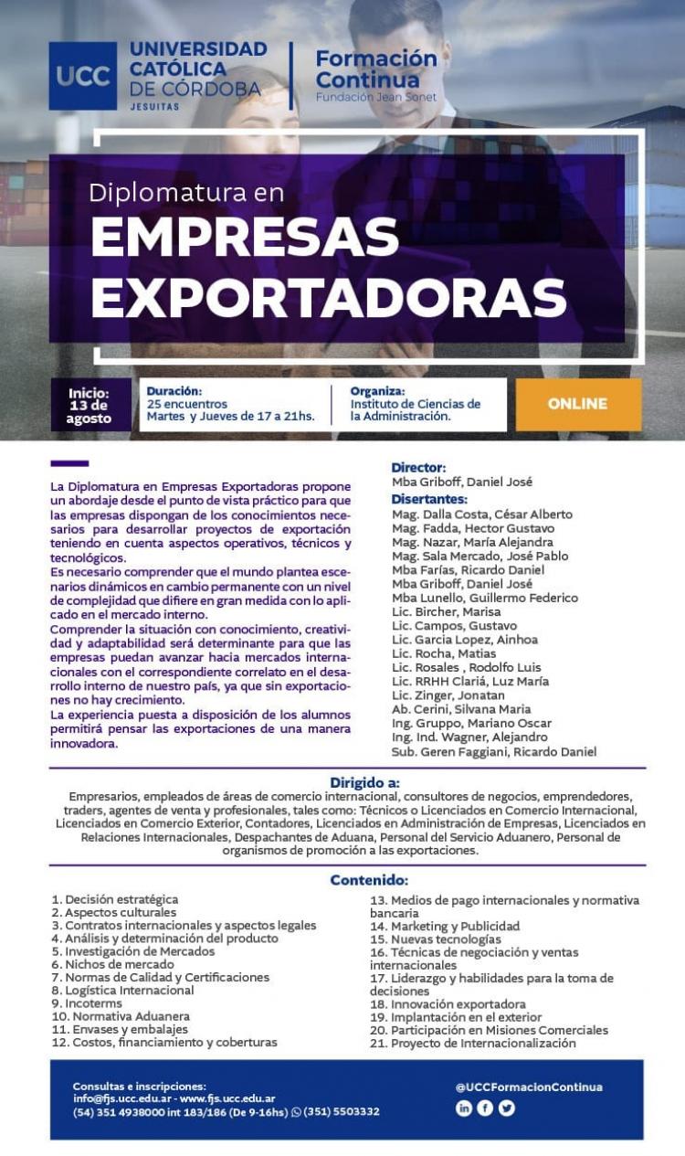 Diplomatura de Empresas Exportadoras