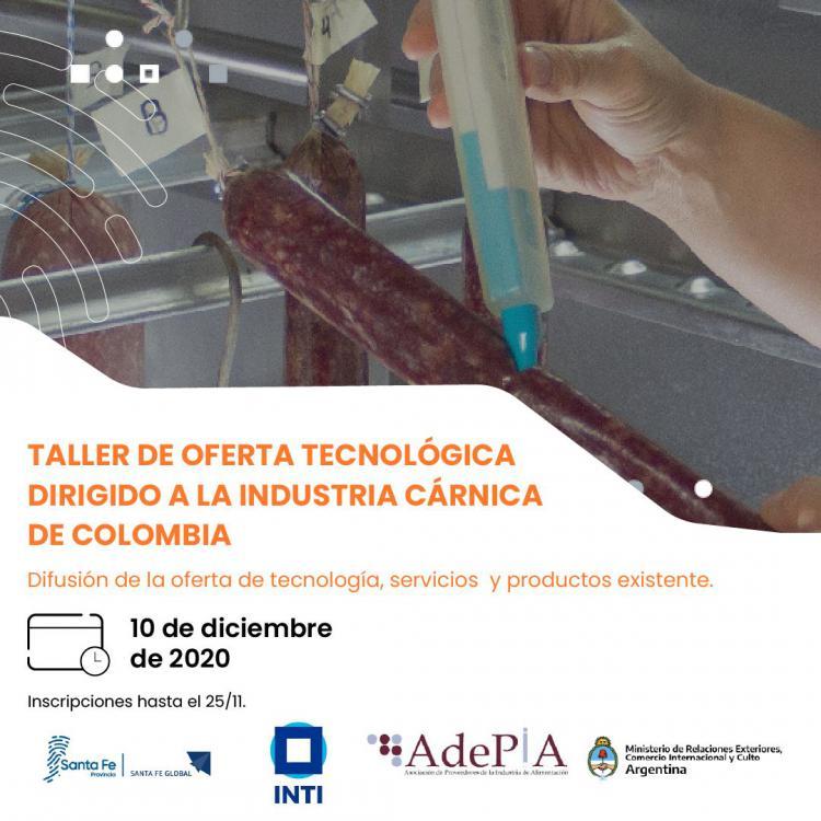 Taller de Oferta Tecnológica dirigido a la Industria Cárnica de Colombia