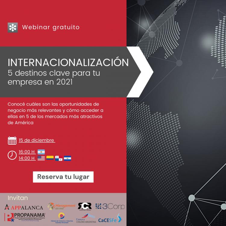 Internacionalización 2021 - 5 destinos clave para tu empresa