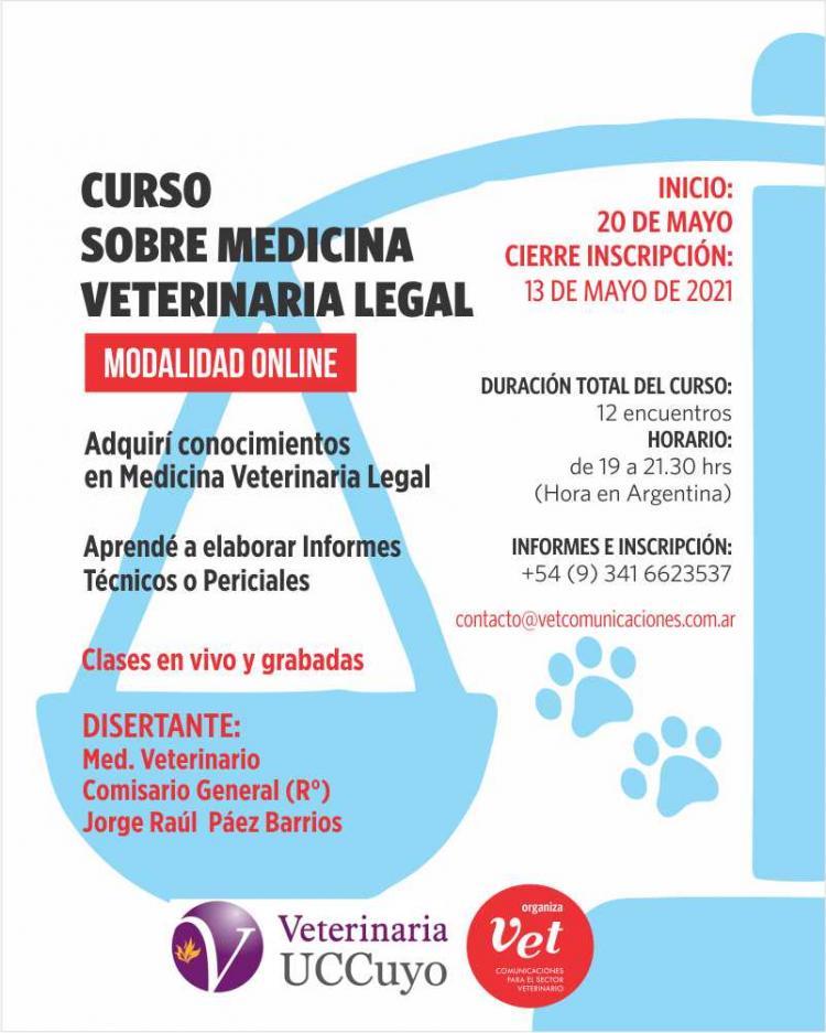 Curso online sobre medicina veterinaria legal