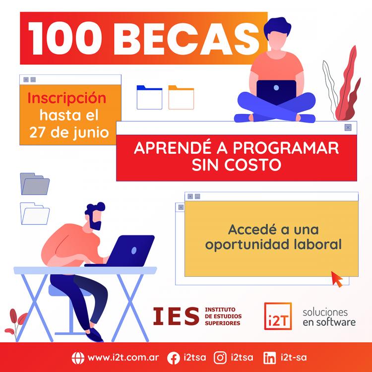 100 BECAS para aprender a programar y 20 puestos de trabajo.