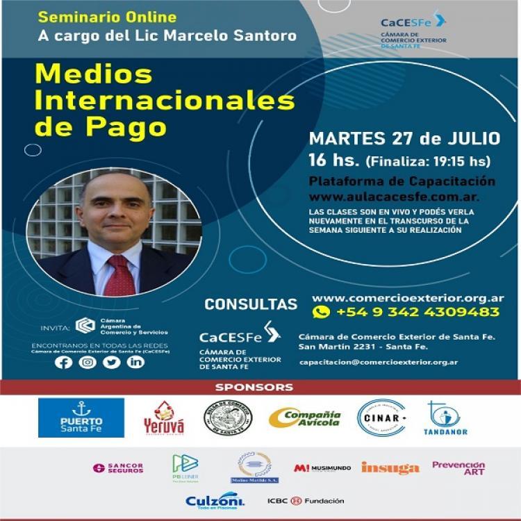## ULTIMOS LUGARES ## Seminario Online  - Medios Internacionales De Pago