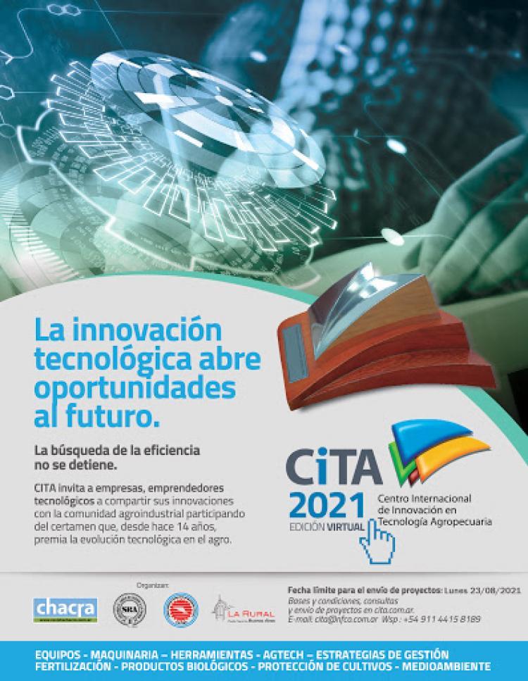 Premio CITA 2021 a la Innovacion en Tecnologia Agropecuaria.