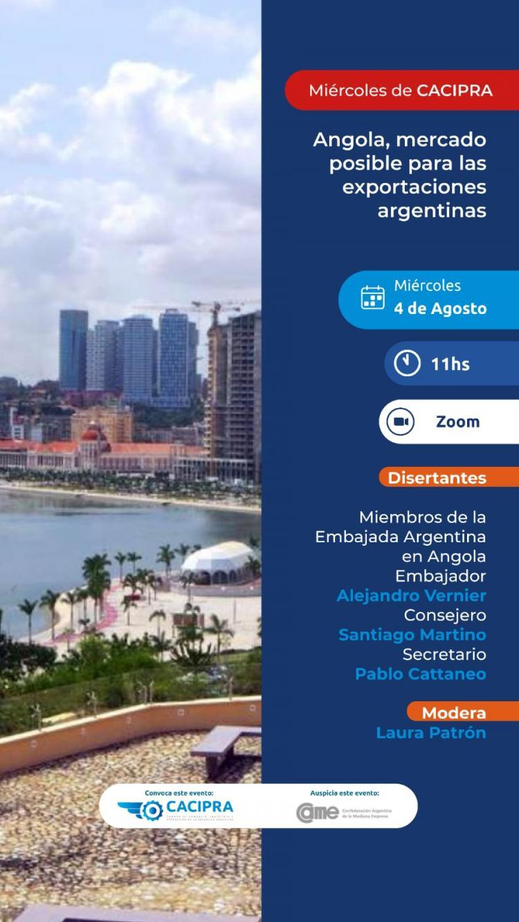 Angola, mercado posible para las exportaciones argentinas