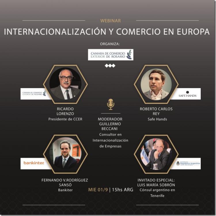 Webinar sobre Internacionalizacion de Empresas y Comercio en Europa