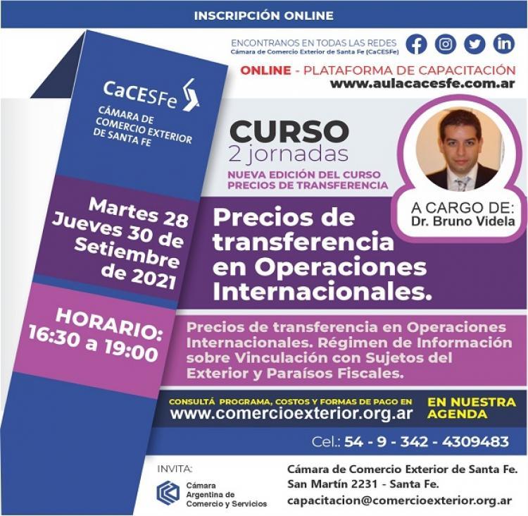 #ULTIMOS LUGARES - Curso: Precios de transferencia en Operaciones Internacionales. Regimen de Informacion sobre Vinculacion con Sujetos del Exterior y Paraisos Fiscales.