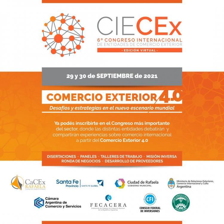 6ta Edicion CIECEx  -  Congreso Internacional de Entidades de Comercio Exterior.